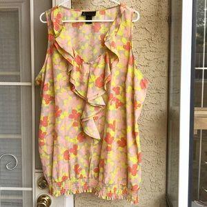 Lane Bryant colorful tank top blouse, size 26